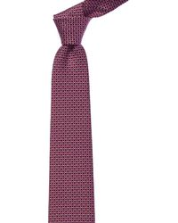 Ferragamo - Magenta Gancini Silk Tie - Lyst