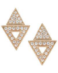Dana Rebecca - Designs Jemma Morgan 14k Rose Gold 0.26 Ct. Tw. Diamond Triangle Drop Earrings - Lyst