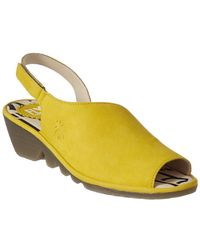 Fly London - Palp Leather Wedge Sandal - Lyst