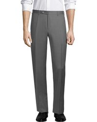 Canali - Wool Straight Leg Trouser - Lyst