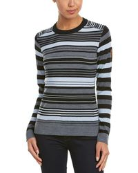 Obermeyer - Fiona Stripe Merino-blend Knit Crew Jumper - Lyst