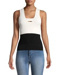 Narciso Rodriguez - Colorblocked Tank Top - Lyst