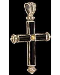Konstantino - Ismene 18k & Silver 4.00 Ct. Tw. Black Spinel & Mother-of-pearl enhancer - Lyst