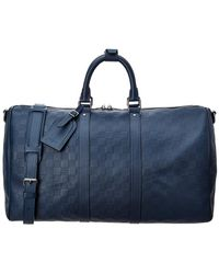 Louis Vuitton - Limited Edition Navy Damier Infini Canvas Keepall 45 Bandouliere - Lyst