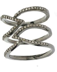 Adornia - Fine Jewellery Silver Ring - Lyst