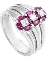 Damiani - 18k 1.30 Ct. Tw. Diamond & Ruby Ring - Lyst