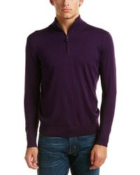 Kinross Cashmere - Forte Mock Neck Silk-blend Jumper - Lyst