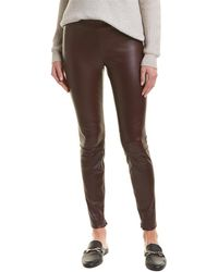 Vince - Zip Ankle Leather Legging - Lyst