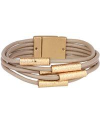 Saachi - Genuine Leather Tube Bracelet - Lyst