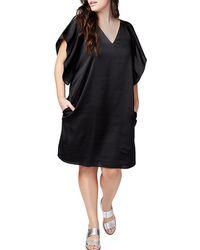 RACHEL Rachel Roy - Satin Flutter-sleeved Dress - Lyst