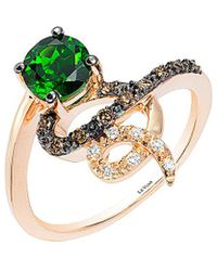 Le Vian - ? Lexy? 14k Rose Gold 0.88 Ct. Tw. Diamond & Chrome Diopside Ring - Lyst