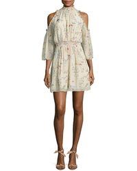 Rachel Zoe - Meade Floral Cold-shoulder Dress - Lyst