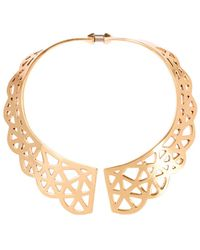 Oscar de la Renta - Scalloped Collar Necklace - Lyst