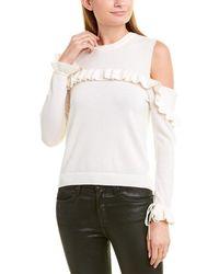 The Kooples Cold-shoulder Wool Jumper - White