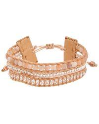 Chan Luu - Silver Sunstone & Crystal Leather Adjustable Bracelet - Lyst