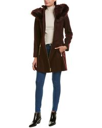 Laundry by Shelli Segal - Flare Wool-blend Coat - Lyst
