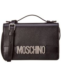 Moschino - Logo Leather Satchel - Lyst