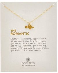 Dogeared - Romantic Heart 14k Over Silver Necklace - Lyst