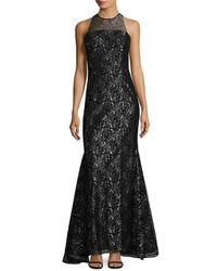 Shoshanna - Metallic Evening Gown - Lyst