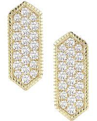 Dana Rebecca - Designs Cynthia Rose 14k 0.21 Ct. Tw. Diamond Hexagon Drop Earrings - Lyst