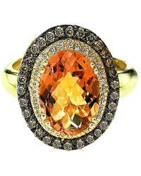 Le Vian - ® Chocolatier® 14k 3.26 Ct. Tw. Diamond & Citrine Ring - Lyst