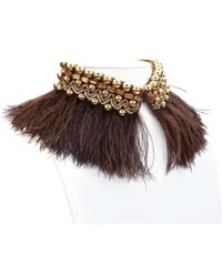 Forest Of Chintz - Beaded Plume Choker - Lyst