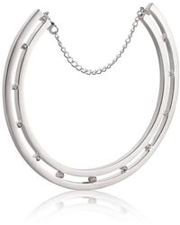 Yael Salomon - Stelle 06 Silver And Crystal Choker Necklace - Lyst