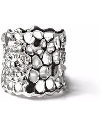 Ayaka Nishi - Silver Tapered Cell Ring - Lyst