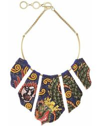 Forest Of Chintz - Dragon Panel Necklace - Lyst