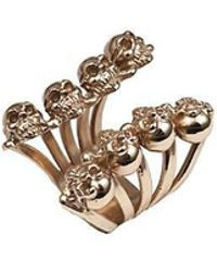 Bernard Delettrez - Eight Skulls Bronze Ring - Lyst