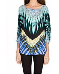 Kore' Collection - Feathers Multi Crepe Top - Lyst