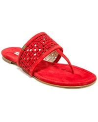 Emy Mack - Rhone Perforated Suede Sandals - Lyst