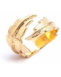 Leivan Kash - Feather Open Ring - Lyst