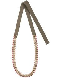 Tataborello - Summer Place Ribbon Necklace 02 - Lyst