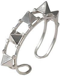Bernard Delettrez - Five Pyramid Silver Cuff - Lyst