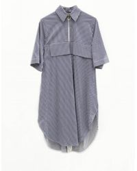 Jamie Wei Huang - Alice Embroidery Stripe Shirt Dress - Lyst