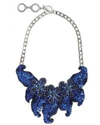 Forest Of Chintz - Jewelled Flower Necklace - Lyst