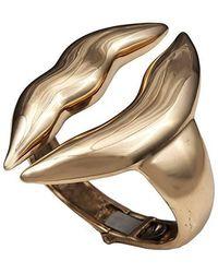 Bernard Delettrez - Large Lips Bronze Cuff - Lyst