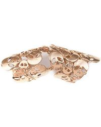 Bernard Delettrez - Articulated Skulls Bronze Ring - Lyst