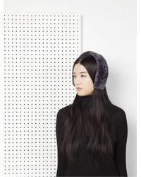 Onar - Cleo Merino Lamb Fur Headband - Grey - Lyst