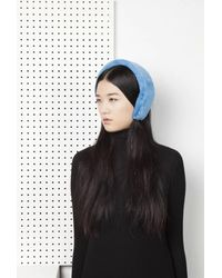 Onar | Cleo Fur Headband - Air Blue | Lyst