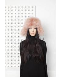 Onar | Glass Fur Hat - Almond | Lyst