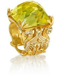 Madstone - Gryphon Citrine Gold Ring - Lyst