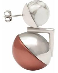 Leivan Kash | Ojo White Rhodium Earring | Lyst