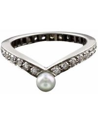 Karapetyan | Marie White Gold And Pearl Ring | Lyst