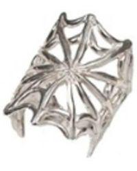 Bernard Delettrez - Silver Web Ring - Lyst