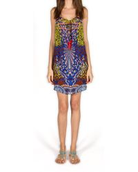 Kore' Collection | Lucky Koi Blue Short Knotted Dress | Lyst
