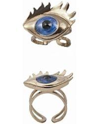 Bernard Delettrez - Bronze Ring With Blue Enamel Eye - Lyst