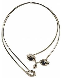 Bernard Delettrez - Brass Osvaldo Face Necklace - Lyst