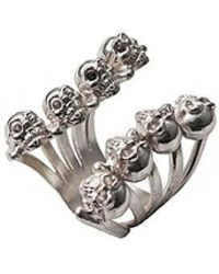 Bernard Delettrez - Eight Skulls Silver Ring - Lyst